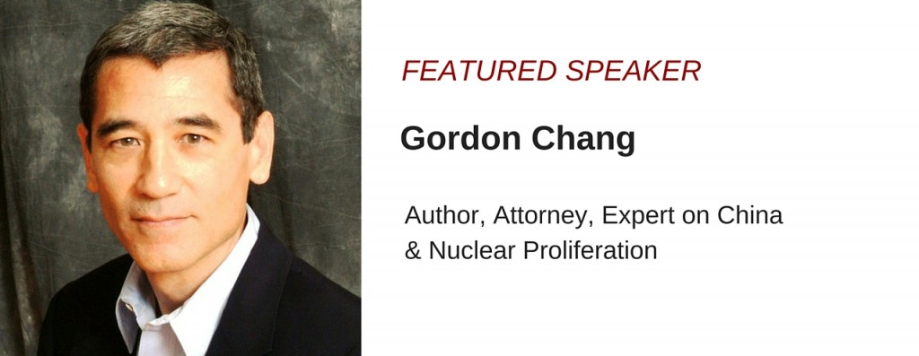 Gordon Chang, Power Talks Speakers Bureau